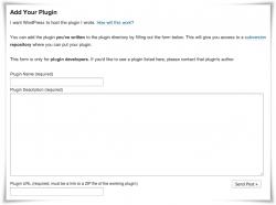 Formulario de alta de nuevo plugin en WordPress.org