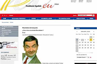 Mr. Bean, en la página de la presidencia