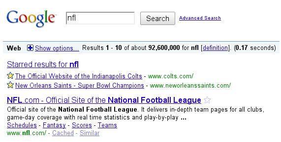 Desaparece Google SearchWiki y aparecen los resultados marcados con estrella
