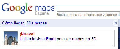 Google Earth disponible en Google Maps