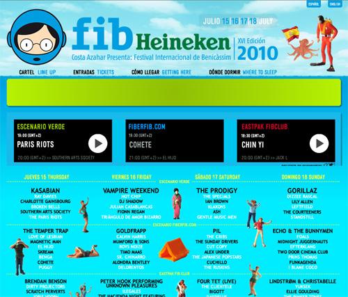 Web FiberFib - Web Festival Internacional de Benicassim