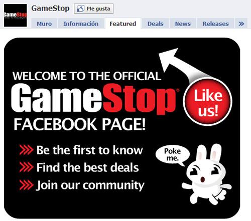 Gamestop en Facebook (no me gusta)