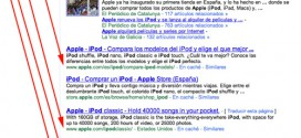 Búsqueda de Apple IPOD en Google