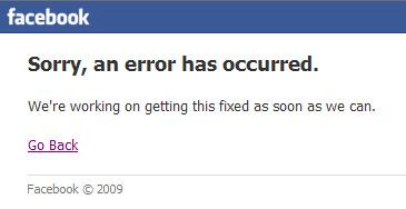 Facebook vuelve a fallar. Ayer en Latinoamérica. Hoy en España.