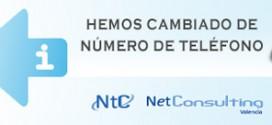 Cambio número de teléfono de NetConsulting Valencia