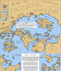 Online Communities 2010 - Interesting illustration of what online communities would look like if they were countries