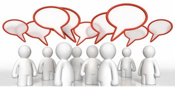 Conversación en redes sociales
