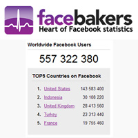 Facebakers: Estadísticas relacionadas con Facebook