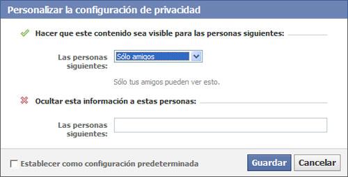 Configurar Privacidad en Facebook