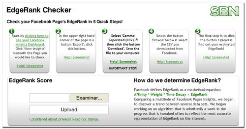 Facebook EdgeRank Checker