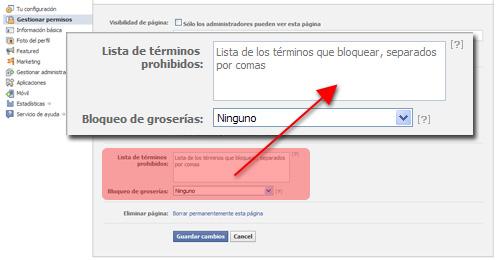 Facebook: Filtro de comentarios