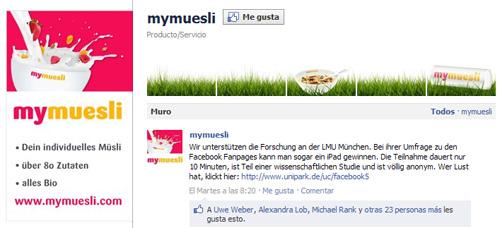 Galería imágenes Facebook: MyMuesli