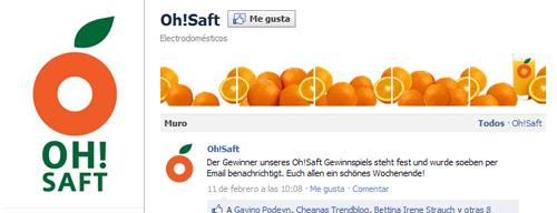 Galería imágenes Facebook: Oh!Saft