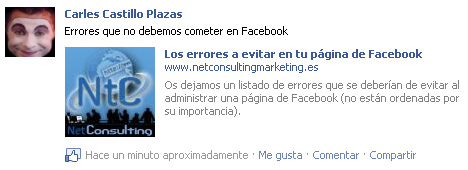 Compartir enlace en Facebook - Open Graph