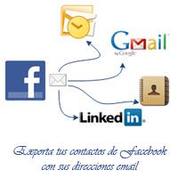 Cómo exportar las direcciones email de los contactos de Facebook