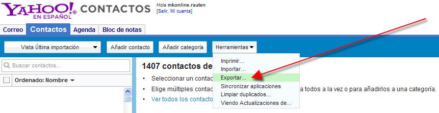 Exportar contactos Facebook con dirección email 03