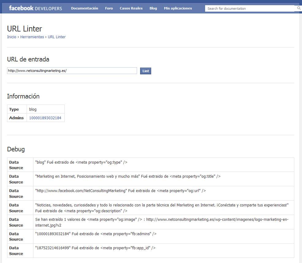 Facebook URL Linter