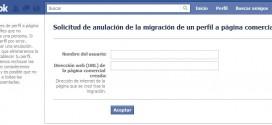 Deshacer conversión de perfil en página (FACEBOOK)
