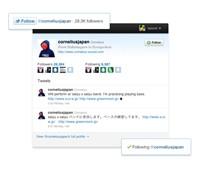 Twitter Follow Button - Botón para seguir cuentas de Twitter