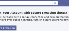 Facebook HTTPS PROMPT