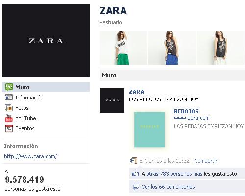 Zara en Facebook: 9 millones de fans y 0 conversación con ellos