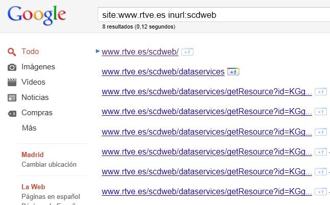 Resultado de búsqueda de la carpeta scdweb - Fuente: Blog www.elladodelmal.com