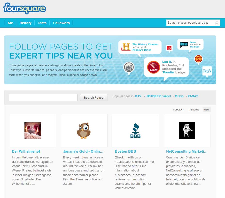 NetConsulting Marketing como página destacada en Fourquare