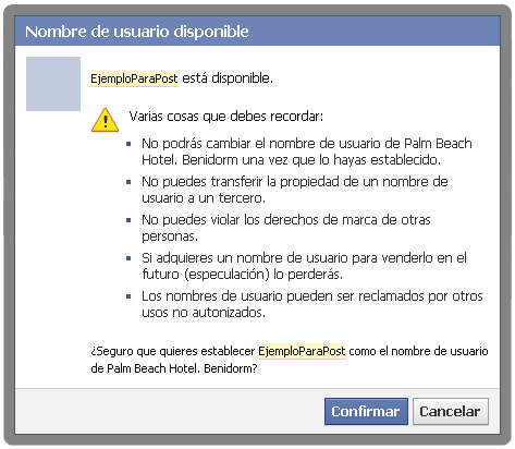 URL personalizada Facebook
