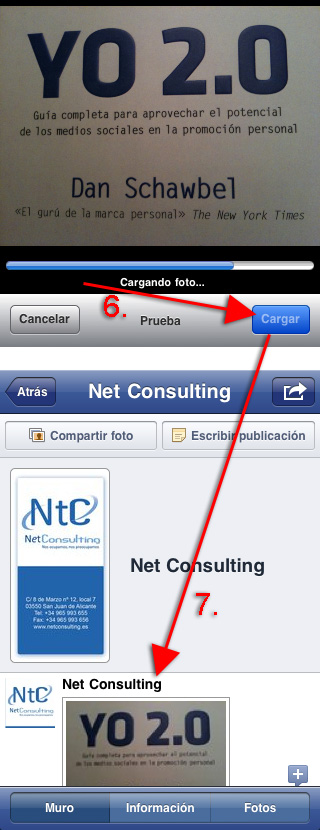 Publicar fotos desde iPhone en página de Facebook -2