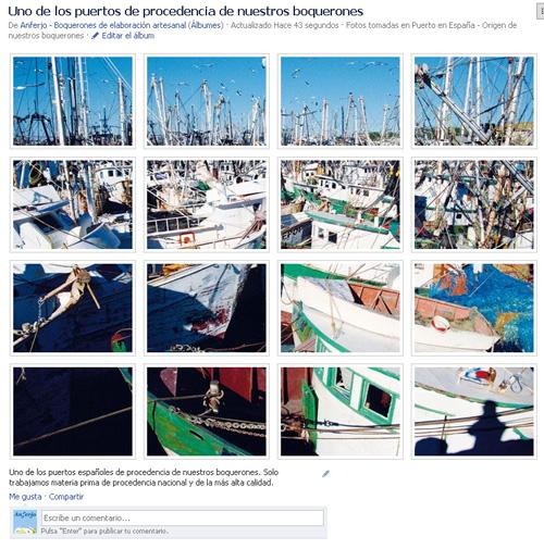Galería de fotos en Facebook personalizada de Anferjo