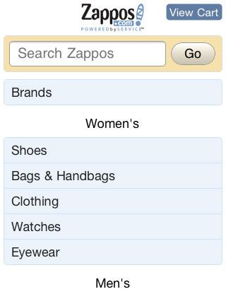 Zappos: Diseño web para móviles - 10 lecciones - Lección 1
