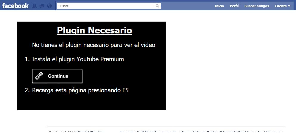 Plugin necesario para el virus / gusano de Facebook: Que tal NOMBRE sabes que sales en un video??