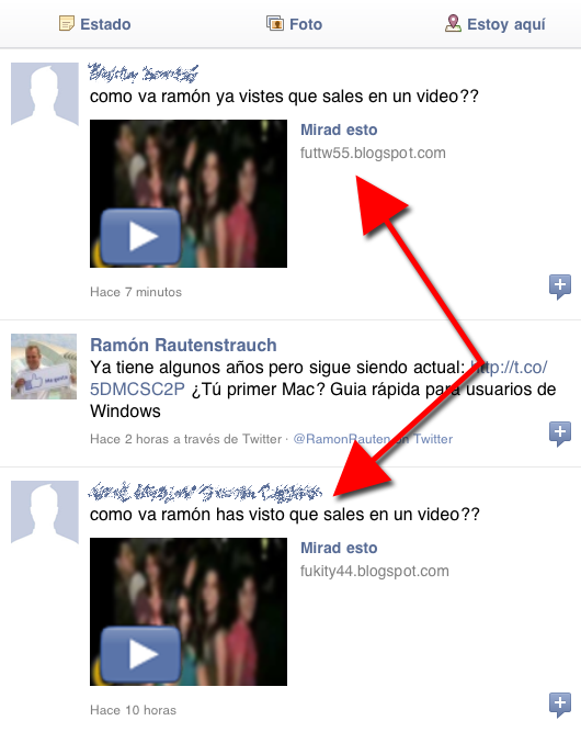 Gusano / Virus de FACEBOOK: Como estas! NOMBRE ya vistes que sales en un video??