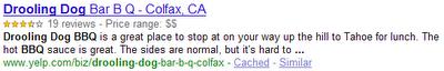 Ejemplo de Rich Snippet de Google
