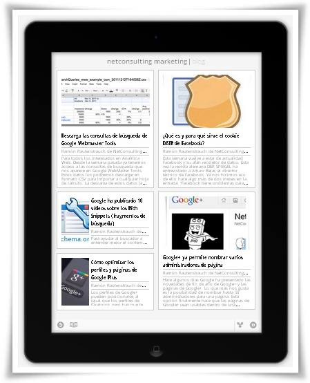 Google Currents - NetConsulting Marketing en iPad