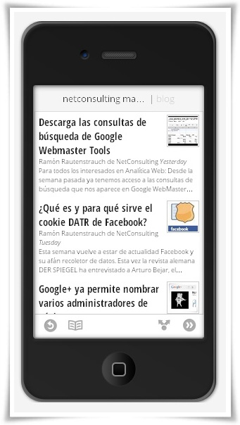 Google Currents - NetConsulting Marketing - iPhone