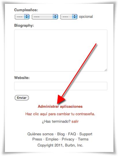 Anular acceso de otras aplicaciones a Instagram a través de la web