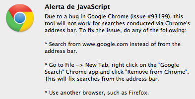 Alerta de Javascript en Google Chrome