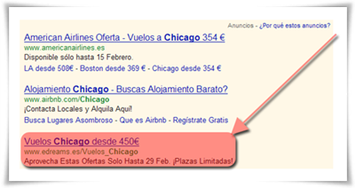 Google AdWords Headline Extension