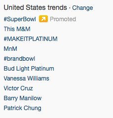 Super Bowl End 1st Quarter - Twitter Trending Topics