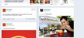Simulación de Timeline para páginas de empresa de McDonalds