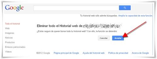 Cómo borrar el historial de búsquedas de Google 03