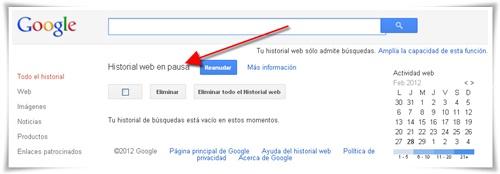 Cómo borrar el historial de búsquedas de Google 04