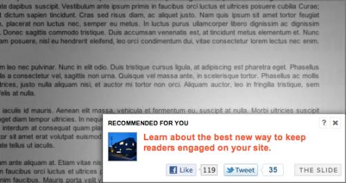 WordPress Plugin: Slide