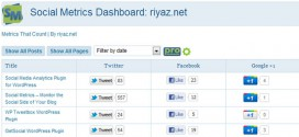 WordPress Plugin: Social Metrics