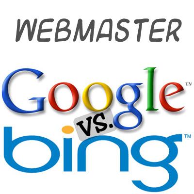 Webmaster Bing y Webmaster Google