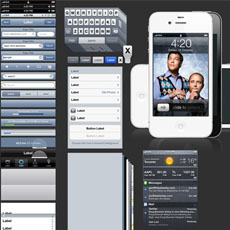 Plantilla Photoshop diseño aplicaciones iOS 5 - iPhone 4S