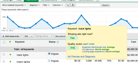Google AdWords Quality Factor - New data