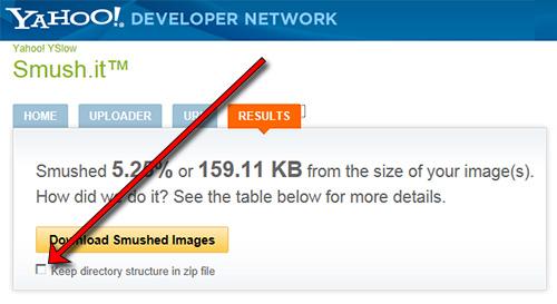 Aumentar la velocidad de tu web con smush.it - descargar imágenes optimizadas con estructura de carpetas