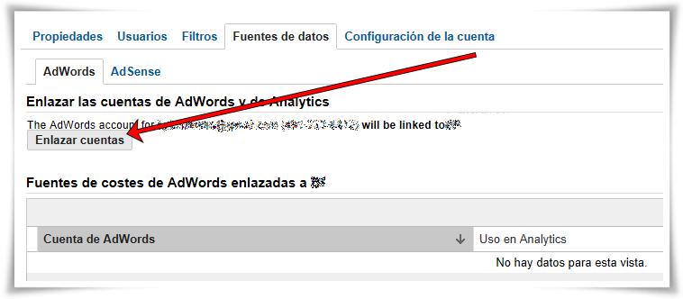 Enlazar Google AdWords con Google Analytics - Paso 07 de 10